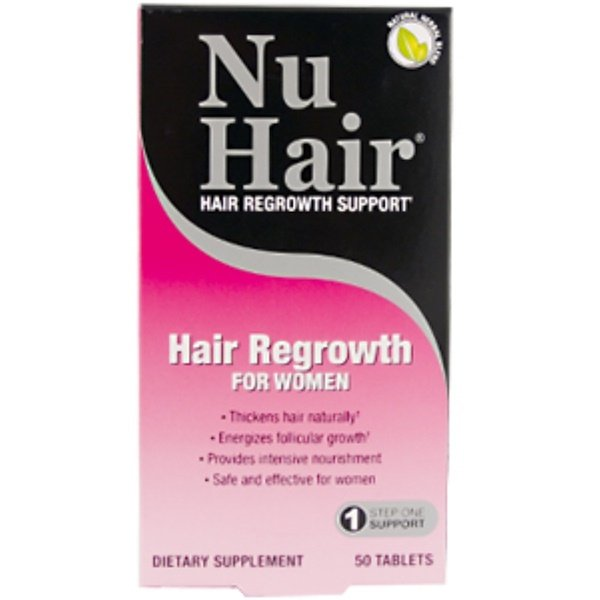 Natrol, NuHair, Hair Regrowth for Women, Step 1, 50 Tablets (Discontinued Item)