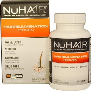 Natrol, NuHair, Hair Rejuvenation for Men, 60 Tablets