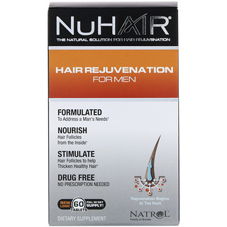 Natrol, NuHair, Hair Rejuvenation for Men, 60 Tablets