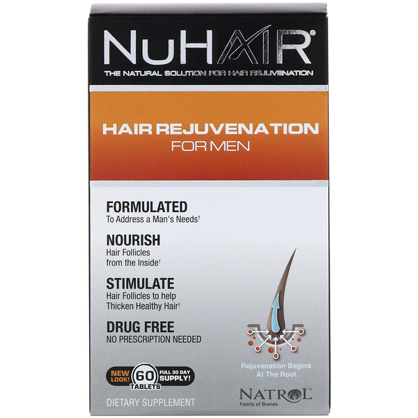 NuHair, Hair Rejuvenation for Men, 60 Tablets