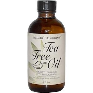 Натурал Треазурес БНГ, Tea Tree Oil, 100% Pure Australian, 4.0 fl oz отзывы покупателей