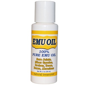 Натурал Треазурес БНГ, EMU Oil, 2 oz (59 ml) отзывы покупателей