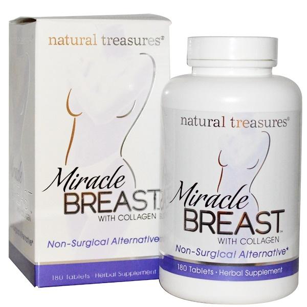 Natural Treasures, BNG, Miracle Breast, 180 Tablets