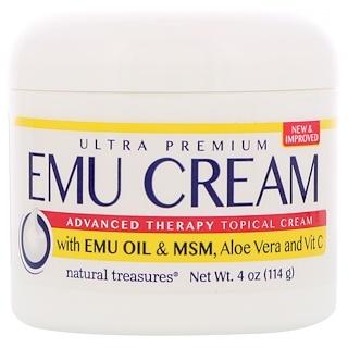 Natural Treasures, BNG, Emu Cream with Emu Oil & MSM, Aloe Vera and Vit C, 4 oz (114 g)