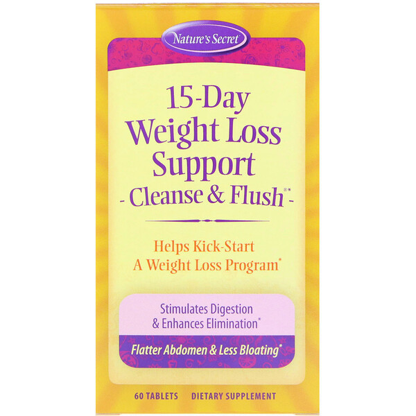 15-Day Weight Loss Support, Cleanse & Flush, 60 Tablets