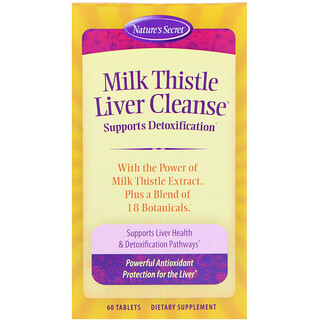 Nature's Secret, Milk Thistle Liver Cleanse, 60 Tablets
