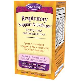 Nature's Secret, Respiratory Support & Defense, 60 Tablets