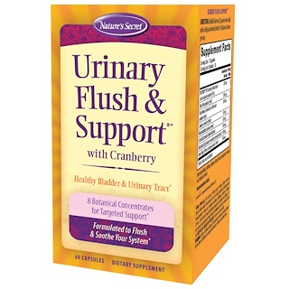 Nature's Secret, Urinary Flush & Support, with Cranberry, 60 Capsules