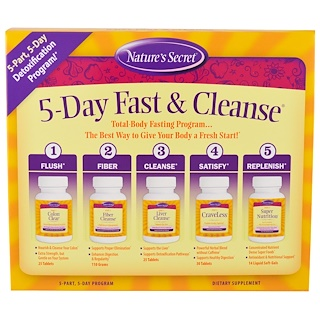 Nature's Secret, 5-Day Fast & Cleanse, 5-Part, 5-Day Program