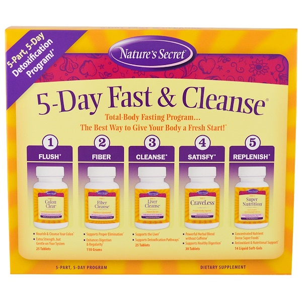 Nature's Secret, 5-Day Fast & Cleanse، الجزء  5, برنامج من 5 أيام (Discontinued Item)