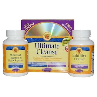 Nature's Secret, Ultimate Cleanse, 2 Part Program, 2 Bottles, 120 Tablets Each