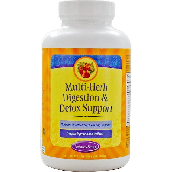 Nature's Secret, Multi-Herb Digestion & Detox Support, 275 Tablets