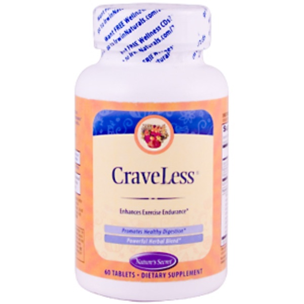 Nature's Secret, CraveLess, Appetite Control Formula, 60 Tablets (Discontinued Item)