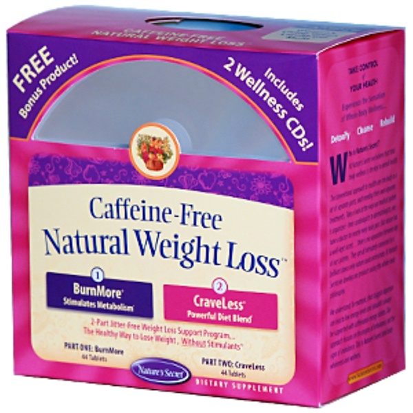 Nature's Secret, Natural Weight Loss, Caffeine-Free, 2 Part Program (Discontinued Item)