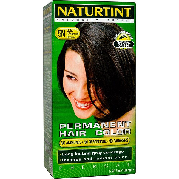 Naturtint, Colorante Capilar Permanente, 5N Castaño Claro, 5.98 fl oz (170 ml)