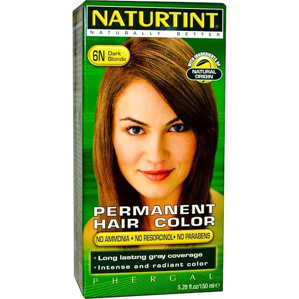 Naturtint, 永久性染髮劑,6N 深金色,5、28液體盎司(150毫升)