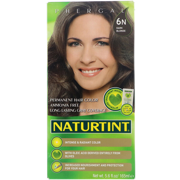 Naturtint, Permanent Hair Color, 6N Dark Blonde, 5.6 fl oz (165 ml)