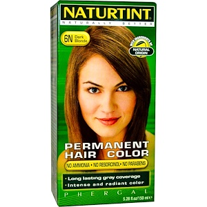 Naturtint, Перманентная краска для волос, 6N, светло-русый, 5.98 жидких унций (170 мл) инструкция, применение, состав, противопоказания