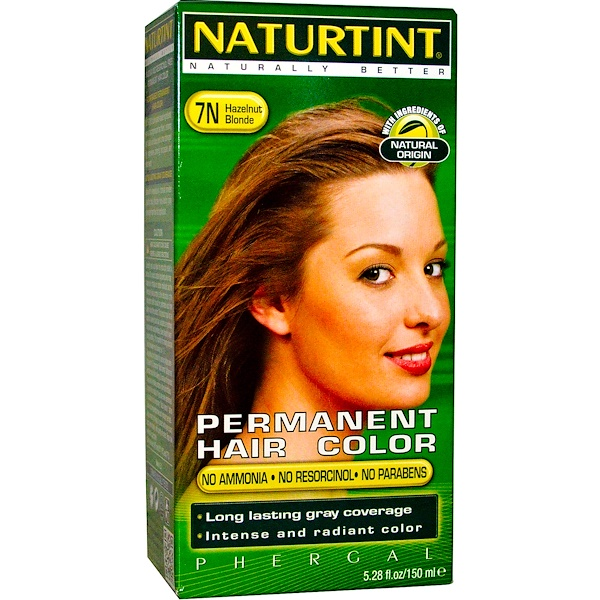 Permanent Hair Color, 7N Hazelnut Blonde, 5.28 fl oz (150 ml)