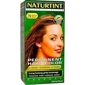 Naturtint, Стойкая краска для волос, 7N, белокурый-фундук, 5,28 жидких унций (150 мл) инструкция, применение, состав, противопоказания