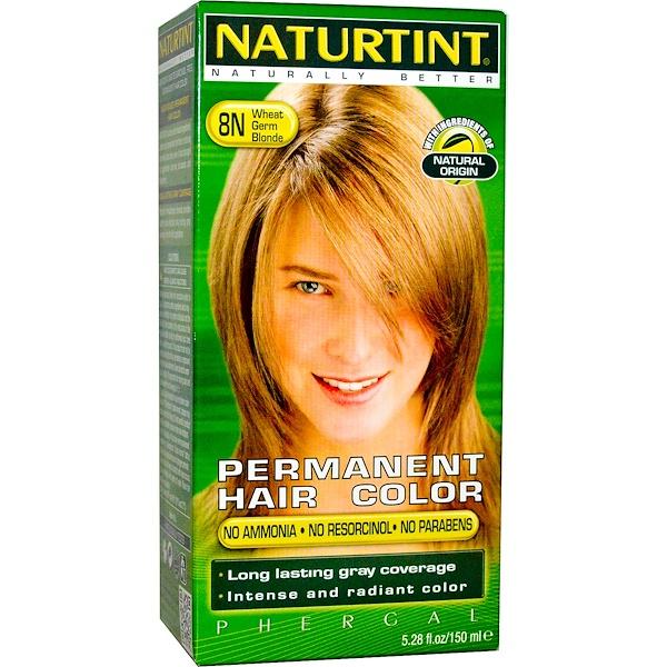 Permanent Hair Color, 8N Wheat Germ Blonde, 5.28 fl oz (150 ml)