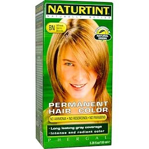 Натуртинт, Permanent Hair Color, 8N Wheat Germ Blonde, 5.28 fl oz (150 ml) отзывы покупателей
