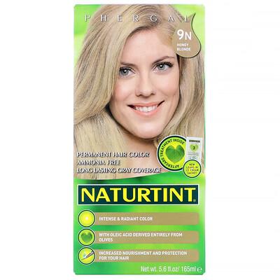 Permanent Hair Color, 9N Honey Blonde, 5.6 fl oz (165 ml)