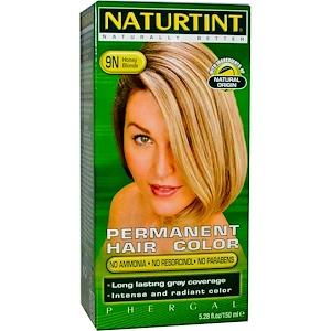 Naturtint, Стойкая краска для волос, 9N, медовый блонд, 5,28 жидких унций (150 мл) инструкция, применение, состав, противопоказания