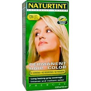 Naturtint, Стойкая краска для волос, 10N, яркий блонд, 5,28 жидких унций (150 мл) инструкция, применение, состав, противопоказания
