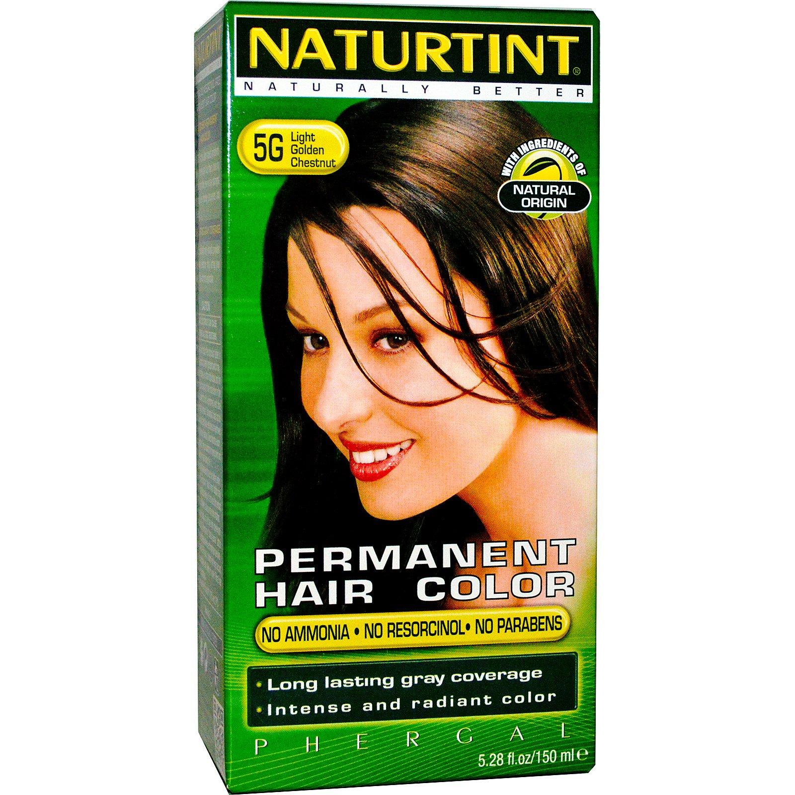 Naturtint, Стойкая краска для волос, 5G светло-золотистый каштановый, 5.28 жидких унций (150 мл)