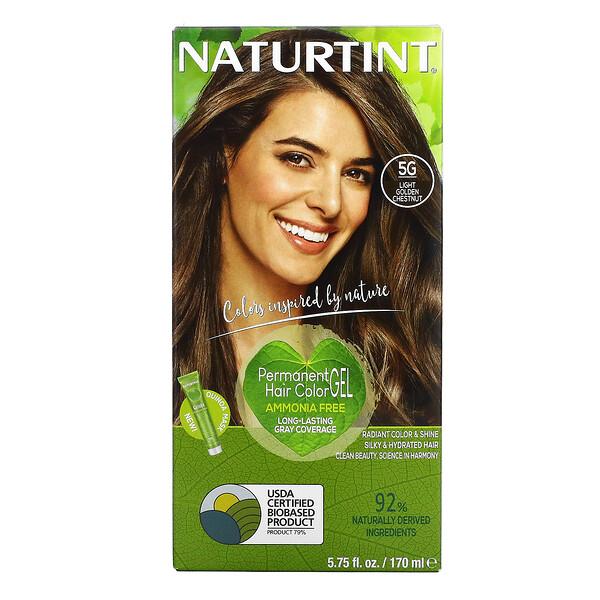 Naturtint, стойкая краска для волос, 5G, светлый золотистый каштан, 165мл (5,6жидк.унции)