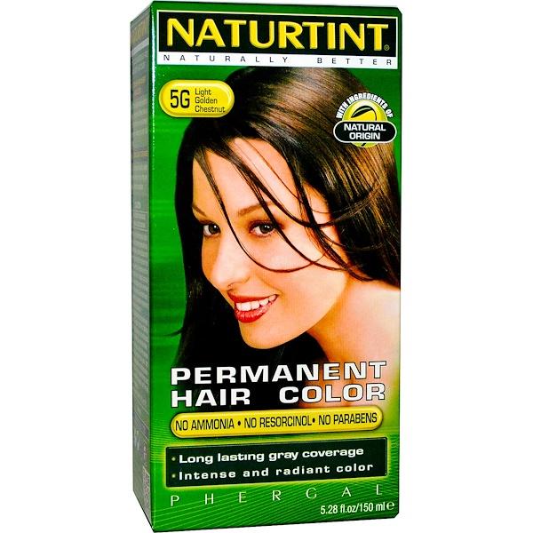 Naturtint, 永久性染髮劑,5G 淡金栗色,5、28液體盎司(150毫升)