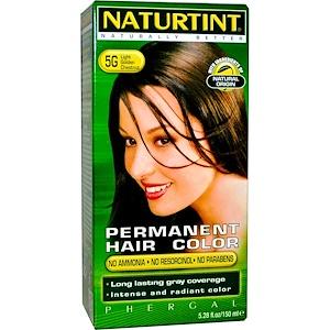 Naturtint, Стойкая краска для волос, 5G светло-золотистый каштановый, 5.28 жидких унций (150 мл) инструкция, применение, состав, противопоказания