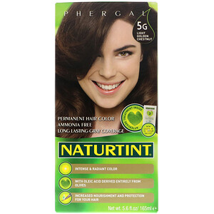 Натуртинт, Permanent Hair Color, 5G Light Golden Chestnut, 5.6 fl oz (165 ml) отзывы