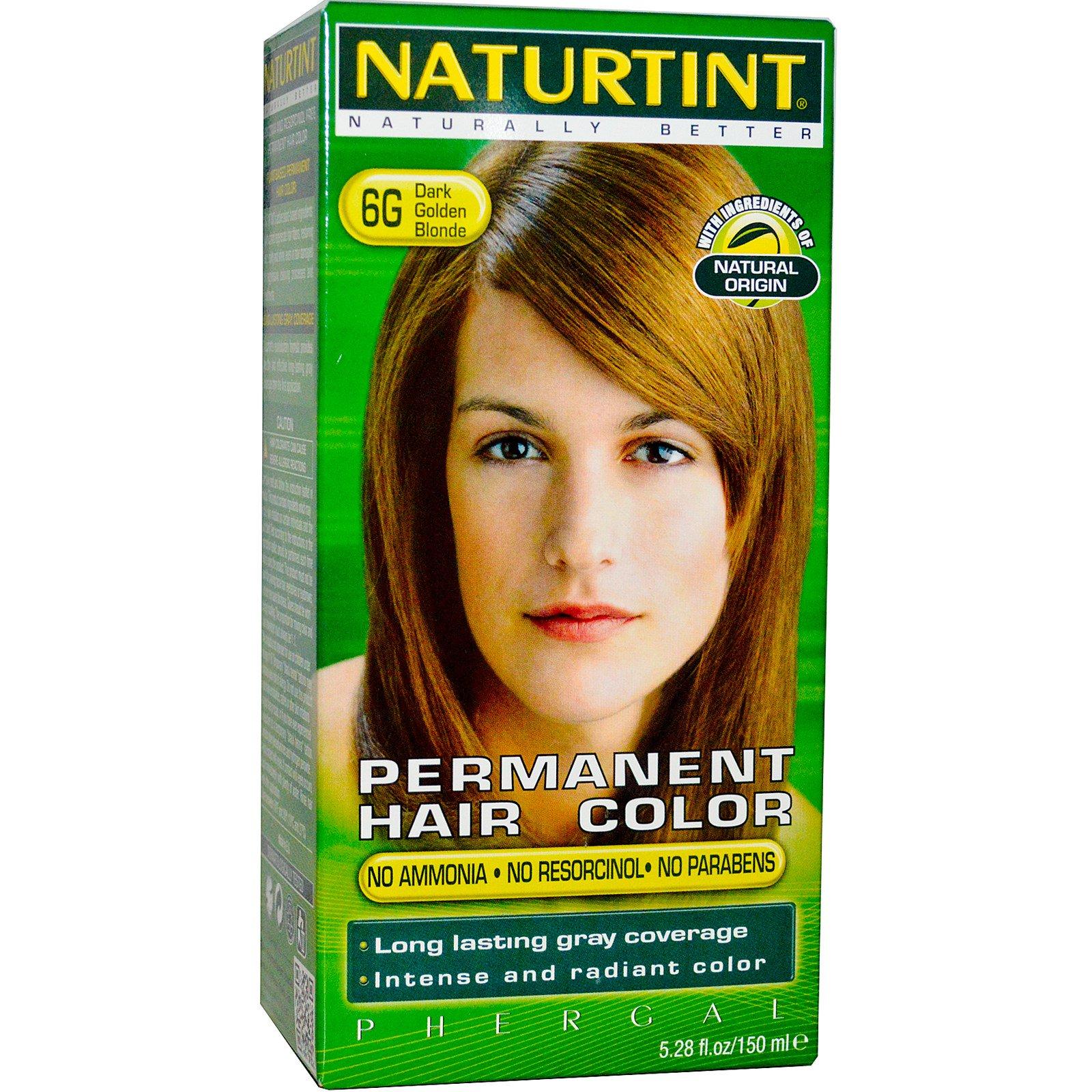 Naturtint, Краска для волос, 6G темный золотой блонд, 5,98 жидкой унции (170 мл)