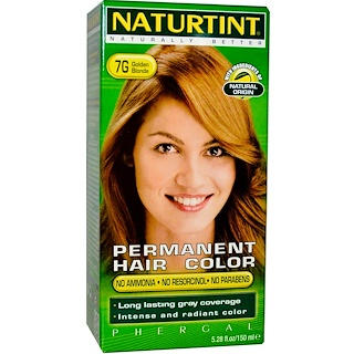 Naturtint, Permanent Hair Color, 7G Golden Blonde, 5.28 fl oz (150 ml)