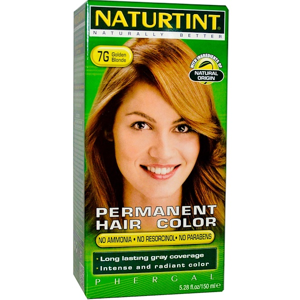 Naturtint, Permanent Hair Color, 7G Golden Blonde, 5.28 fl oz (150 ml) (Discontinued Item)