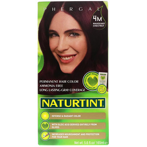 Натуртинт, Permanent Hair Colorant, 4M Mahogany Chestnut, 5.6 fl oz (165 ml) отзывы