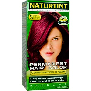 Натуртинт, Permanent Hair Color, 5M Light Mahogany Chestnut, 5.28 fl oz (150 ml) отзывы покупателей