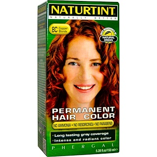 Naturtint, Permanent Hair Color, 8C Copper Blonde, 5.28 fl oz (150 ml)