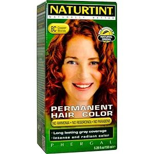 Naturtint, Стойкая краска для волос, 8C, медный блонд, 5,28 жидких унций (150 мл) инструкция, применение, состав, противопоказания