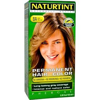 Naturtint, Permanent Hair Color, 8A Ash Blonde, 5.28 fl oz (150 ml)