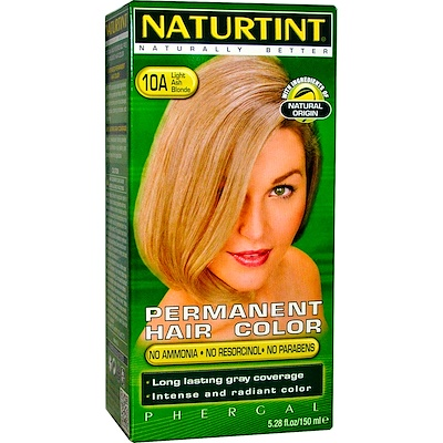 Перманентная краска для волос, 10А светло-пепельный блонд, 5,28 жидк. унц. (170 мл) цена и фото