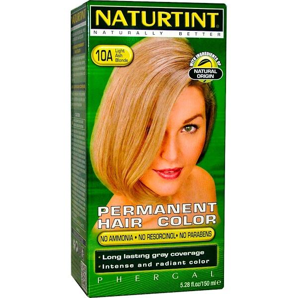 Naturtint, 永久性染髮劑,10A淺灰金,5、28液盎司(170毫升)