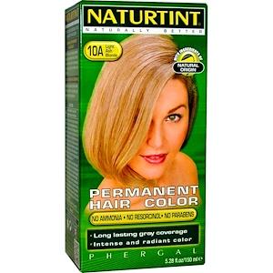 Naturtint, Перманентная краска для волос, 10А светло-пепельный блонд, 5,28 жидк. унц. (170 мл) инструкция, применение, состав, противопоказания