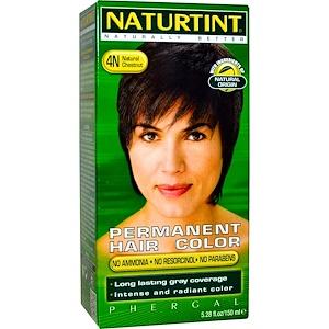 Naturtint, Стойкая краска для волос, 4N Натуральный каштан, 5,28 жидкой унции (150 мл) инструкция, применение, состав, противопоказания