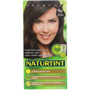 Натуртинт, Permanent Hair Color, 4N Natural Chestnut, 5.6 fl oz (165 ml) отзывы покупателей