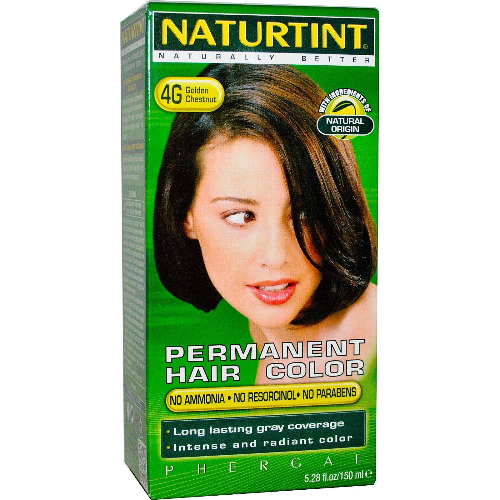 Naturtint, Стойкая краска для волос, 4G, золотистый каштан, 5,28 жидких унций (150 мл)