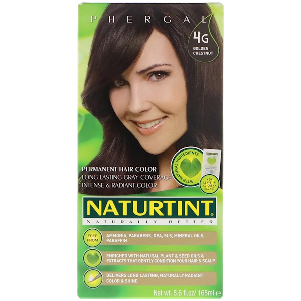 Naturtint, Permanent Hair Color, 4G Golden Chestnut, 5.6 fl oz (165 ml)