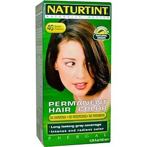 Naturtint, Стойкая краска для волос, 4G, золотистый каштан, 5,28 жидких унций (150 мл) инструкция, применение, состав, противопоказания